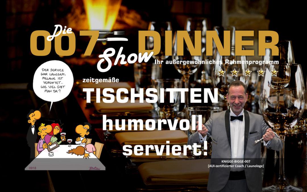 Tischsitten humorvoll serviert