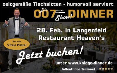Die 007-Dinner-Show > Tischsitten humorvoll serviert!
